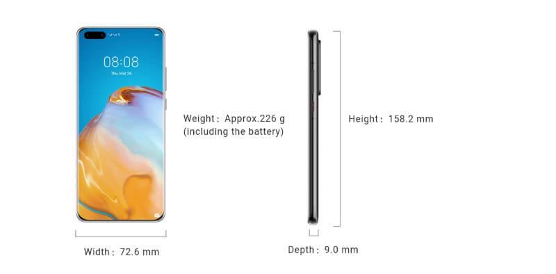 Huawei P40 Pro Plus Design