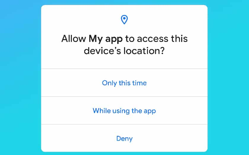Allow access to geolocation only once