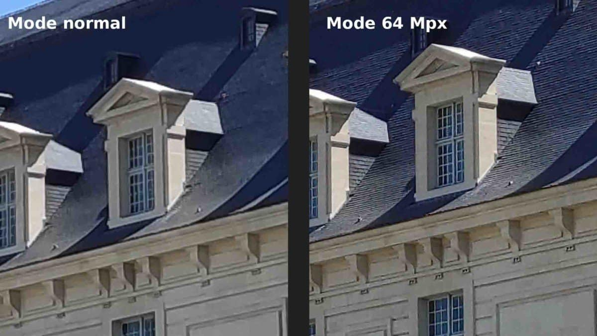 64 megapixel mode brings more clarity when the light conditions are good