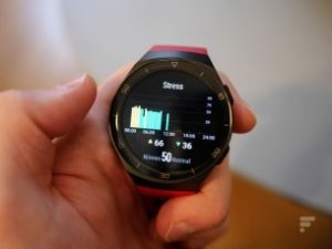 The level of stress displayed on the Huawei Watch GT 2e