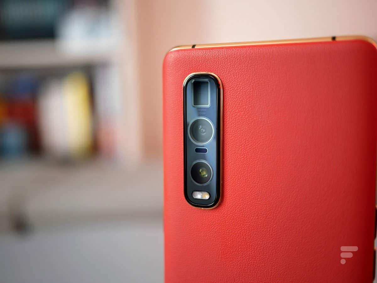 The photo module of the Oppo Find X2 Pro