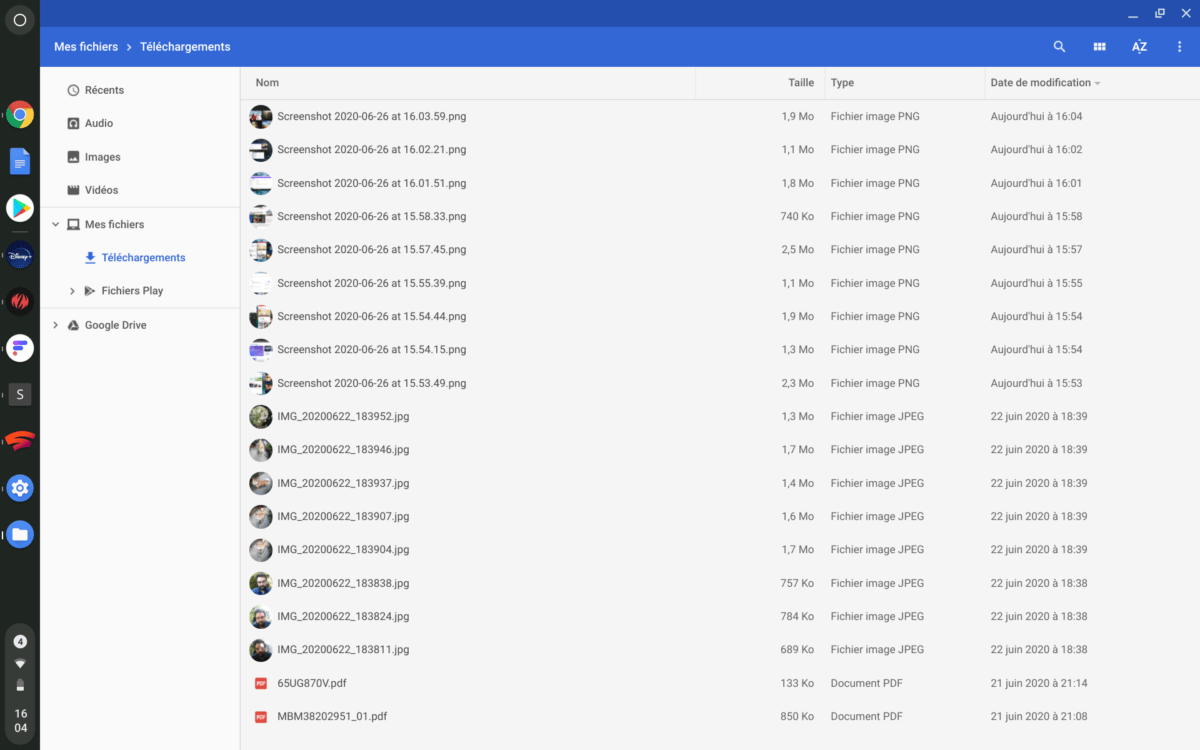 The Files app that works as a file explorer on Chrome OS